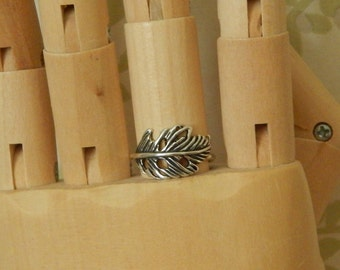 Feather Ring, Sterling Silver Feather Design Ring, Tribal Ring, Silver Feather Ring, Nature Jewellery
