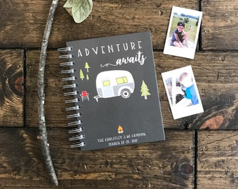 Camping Journal. Custom Road Trip Traveling Journal. Full Time RV Journal. Custom Memory Book, Scrapbook. Traveling Journal