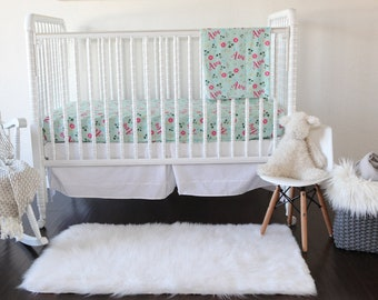 Personalized Fitted Crib Sheet - Wildflower / Crib sheets / Personalized / Nursery Bedding