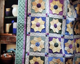 Debbie Mumm Cottage in Bloom Quilting Pattern Book Applique Dresden Flower Quilt Designs Pansy Quilt Angel Wallhanging Daisy Garden DIY Gift