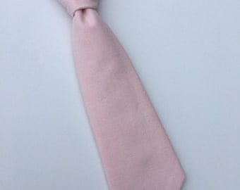 Boys Neck Tie, Infant Tie, Toddler Neck Tie, Pink Neck Tie, Blush Pink