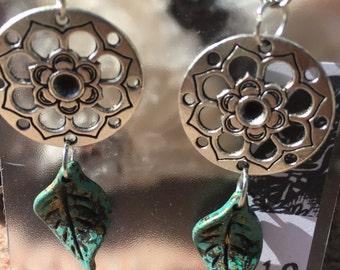 Circle of Life Mandala Dangle Earrings