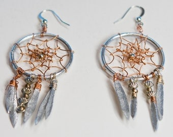 Wire Dream Catcher Earrings