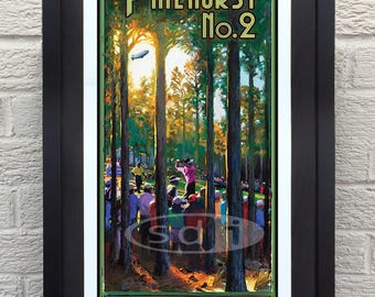 U.S.Open at Pinehurst 2014 golf gift sports art poster print painting