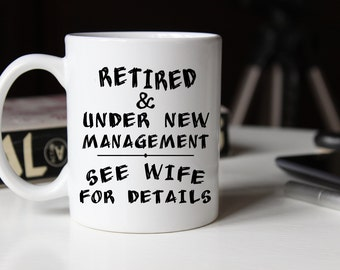 Retirement Mug, Gifts under 20, Gift for Him, Funny Mugs, Retirement Gift, Retired Present, Retirement Wishes, Goodbye Tension, Retiree Gift
