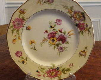 "Antique Theodore Haviland Limoges 8 1/2"" Lunch Plate - Schleiger Pattern"