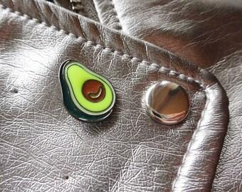 Avocado Healthy Green Eating Vegetable Guacamole Pin Badge