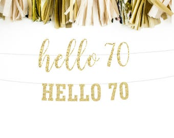 70 & Fabulous Banner 70th birthday party decorations banner