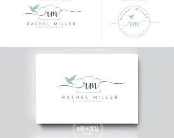hummingbird camera branding 1 initials businesscards  simple modern feminine branding- logo Identity for Children and family photographer