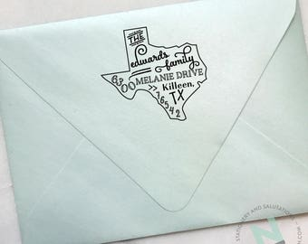 Custom Design State Address Stamp
