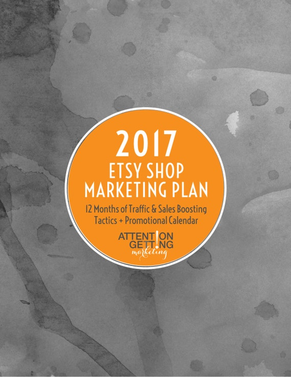 One of my Best Selling Items – Etsy Shop Marketing Plan – A Step by Step 12-Month Marketing Planner to Drive Traffic