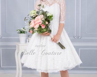 Handmade wedding dress 1950's bridal dress Jolina