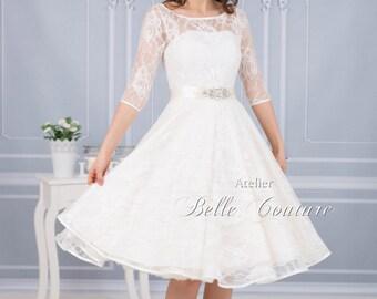 """Vintage wedding dress """"Gill"""" rose petal tip"""