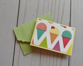 Mini Birthday Cards -- Birthday Gift Cards --  Birthday Gift Enclosure Cards -- Card and Envelope Set
