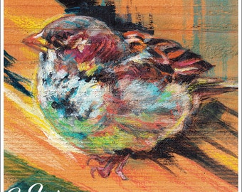 Print or Note Card: Sparrow