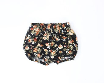 Cotton Corduory Bloomers in Rose Floral