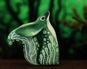 Forest Fennec Fox Totem Figurine Sculpture, Animal magic spirit amulet