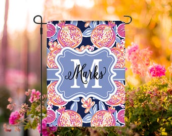 Summer Garden Flag Personalized Spring Flag Monogrammed Outdoor Garden Decor Yard Summer Garden Decor Custom Garden Flag Floral Pattern