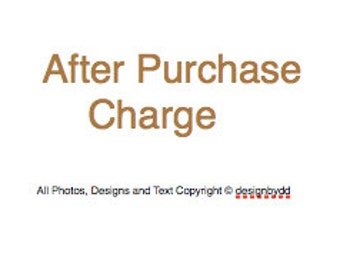 This listing is for any charges after your purchase, Repair, Change Length of necklace
