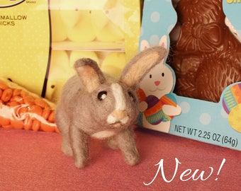 Needle-felted Easter Bunny