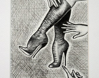 The Boots - original fetish art by Stella Polaris