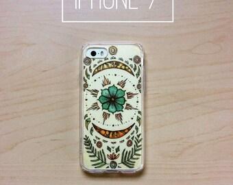 Moon flower - iPhone clear case & art insert