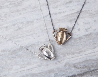 Algiz Vessel Necklace