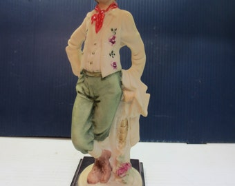 Vintage Cowboy / Cowgirl Figurine Capodimonte Style Made in Italy