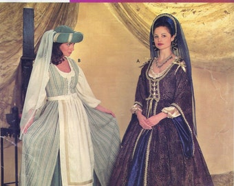 Simplicity Costumes 0637 Misses' Medieval Costumes Sewing Pattern UNCUT