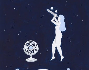 Moon Watcher Society Print
