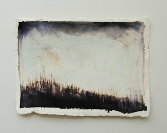 Ink // Original // Wall Art // Trees // Landscape // Ethereal // Atmospheric // Haunting // Home Decor // Fine Art // Indian Paper