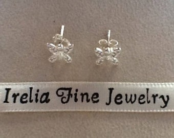 Delicate Sterling Silver Butterfly Stud Earrings Ready to Ship