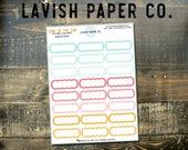 Soak Up The Sun Scallop Qtr. Box Planner Sticker by Lavish Paper Co. | for Erin Condren, Mormon Mom Planner, inkWELL Press, Happy Planner
