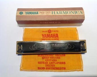 1960s Yamaha Nippon Gakki No.20 Tremolo Harmonica in A. Vintage Mouth Organ. Musical Instruments. Woodwind Instruments.