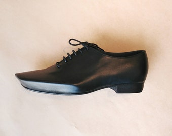 Mens Oxford Shoes - Flat Shoes - Mens Leather Shoes - Mens Shoes - Unique Angular Calf Leather ARAMA Oxford shoes