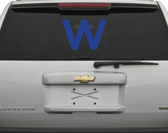 Cubs W Decal Etsy - Window stickers for cars chicago