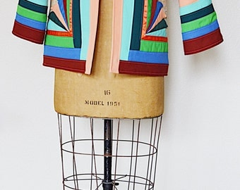 1970's At the End of the Rainbow || Patchwork Jacket ||