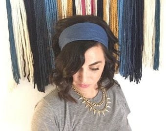 Denim Top Knot Wire Headband for women, kids and baby