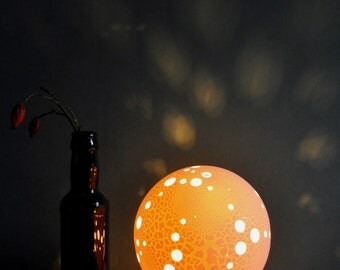 Holey Planet Porcelain Lamp