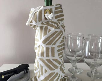 Wine Tote Bag - Canvas Tote Bag - Wine Travel Bag - Wine Tote Carrier - Wine Lover - Wine Birthday Gift - Wine Wedding Gift – Bottle Tote