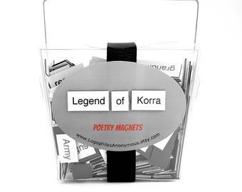 Legend of Korra Poetry Magnet Set - Refrigerator Poetry Word Magnets - Free Gift Wrap