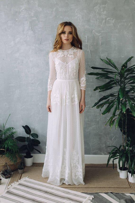 Romantic Bohemian Wedding Dresses