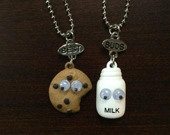 Best Friend Necklace, Best Friend Jewelry, BFF Jewelry, BFF Necklace, Friendship Necklace, Best Friend Gift, Cookie Necklace, Cookie Jewelry