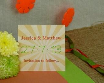 Sunburst Nautical Wedding Save the Date card