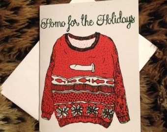 Homo for the Holidays Greeting Card