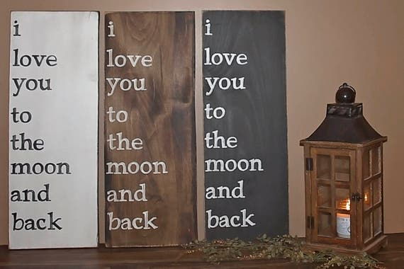 i love you to the moon and back wall decor. Black Bedroom Furniture Sets. Home Design Ideas