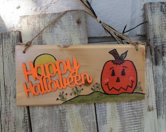 Happy Halloween sign - hand painted, ready to ship!