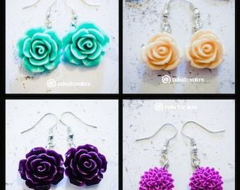 Flower Earrings - Various Designs