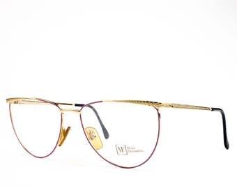 90s Vintage Eyeglasses | Lilac and Gold Eyeglass Frame | NOS 1990s Glasses | Vintage Deadstock -