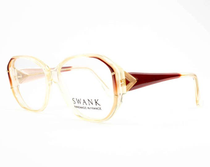 80s Vintage Glasses   Clear Oval Eyeglasses   NOS 1980s Eyeglass Frame   Deadstock Eyewear - Electra